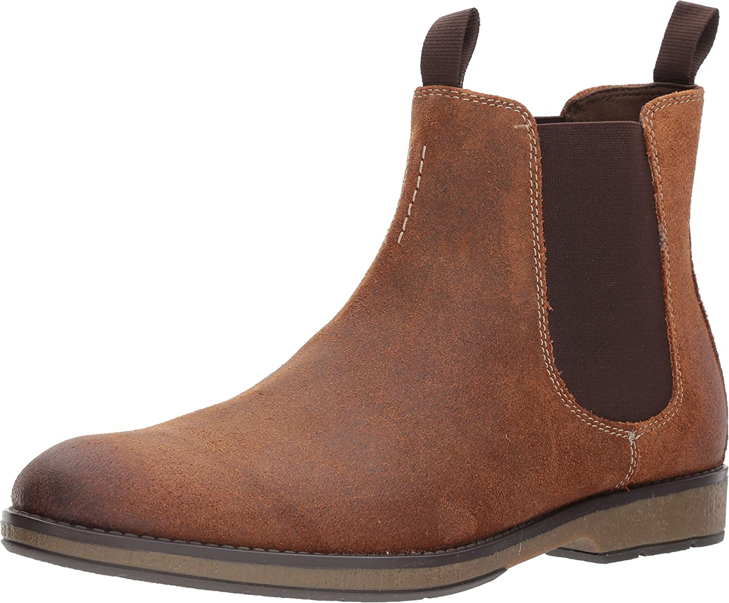 Clarks Mens Hinman Chelsea Low Boot, 14 D(M) US, Dark Tan Suede