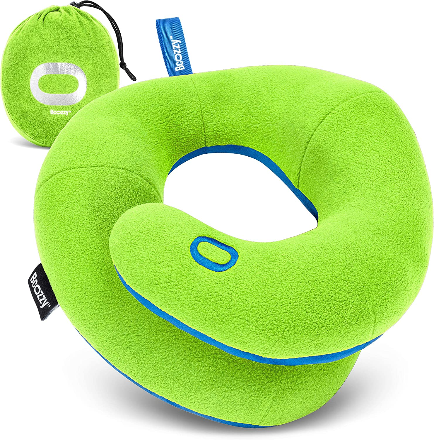 Gray Stops The Head from Falling Forward BCOZZY Kids Chin Supporting Travel Pillow for 8-12 Y//O Medium Size Soft Comfortable Road Trip Essential Washable