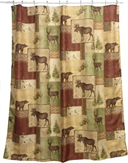 rustic lodge shower curtain