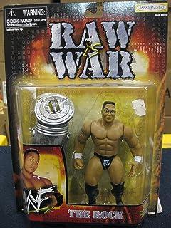 "1999 Jakks WWF RAW IS WAR "" The Rock "" Action Figurine - 6 inch"