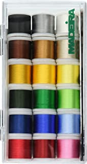 Madeira 8040 Tacony Rayon Gewinde sampler-18 Spulen, 18 Spools, One Size