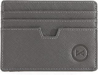 Women Slim Minimalist Card holder wallet Front Pocket RFID Blocking Leather card case w/ID slot for Men business travel