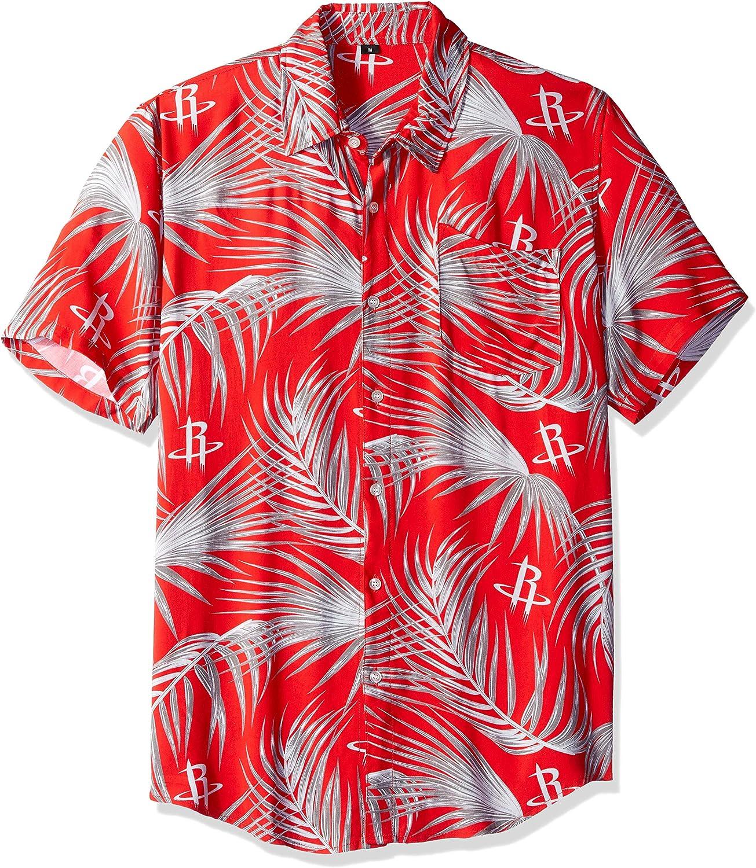FOCO NBA Mens Floral Shirt