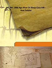 BK 344 -1866 Aga Khan Or Khoja Case AIR - Real Patidar
