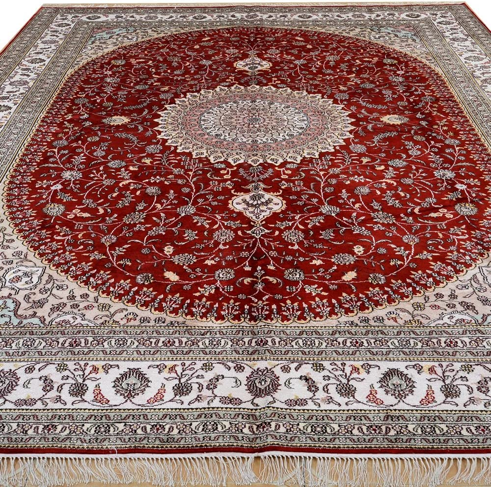 Yilong 9'x12' Fort Worth Mall Oriental Persian Silk Traditional Dallas Mall Rug Vintage Nain