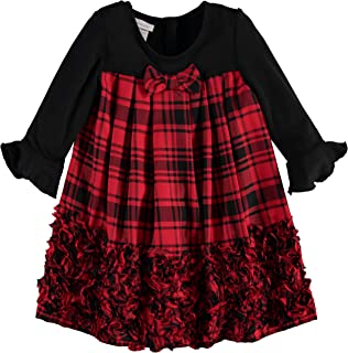 Best toddler girl red and black plaid dress Reviews