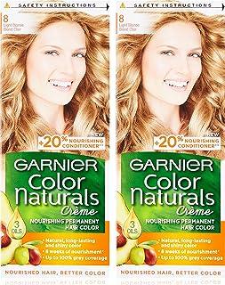 Garnier Color Naturals Crème Twin Pack, 8 Light Blonde,110 ml