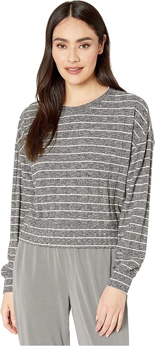 Heather Charcoal/Oatmeal Stripe