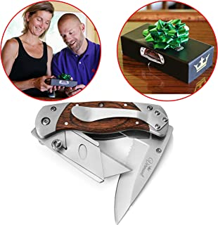 Pro Utility Knife 2 in 1 Box Cutter. Pocket Knife Box Cutter Combo. Stainless Steel &..