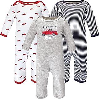 Hudson Baby Kombinezon dziecięcy Uniseks - niemowlęta Hudson Baby Unisex Baby Cotton Coveralls, Fire Truck