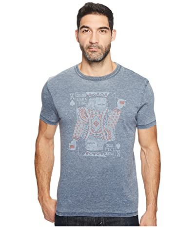 Lucky Brand Drinking King Graphic Tee (American Navy) Men