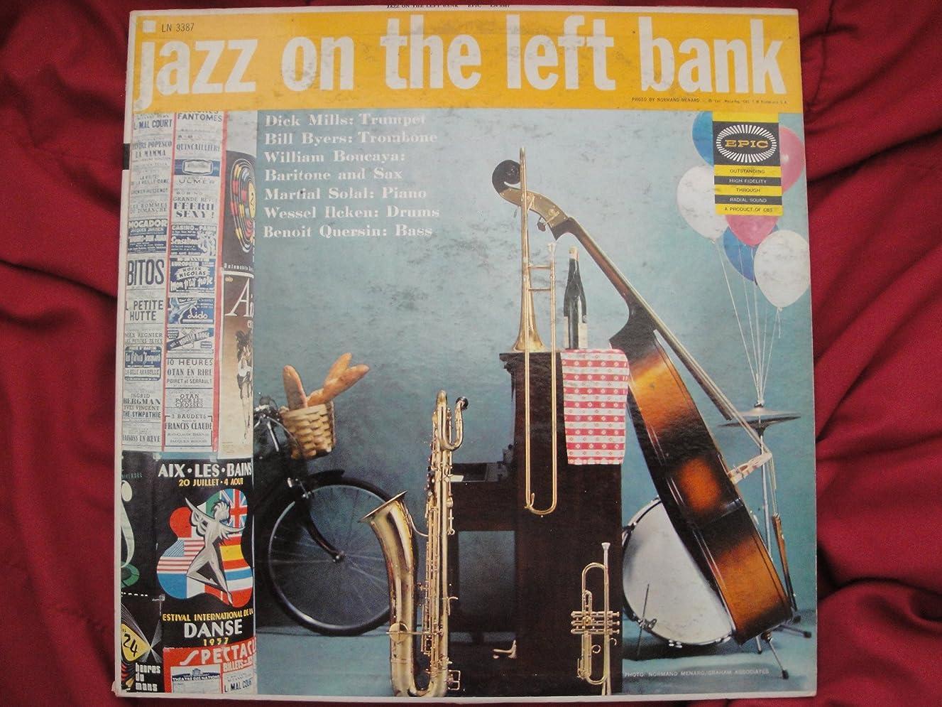 Jazz On The Left Bank, EPIC LN-3387, Dick Mills, Bill Byers, William Boueaya, Matial Solal, Wessel Ilcken, Benoit Quersin, Vinyl Lp Record Vg+