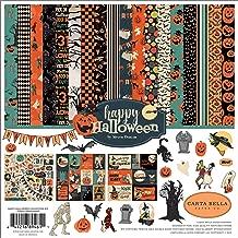 Carta Bella Paper Company CBHAL104016 Happy Halloween Collection Kit Paper, Orange, Black, Blue, Navy