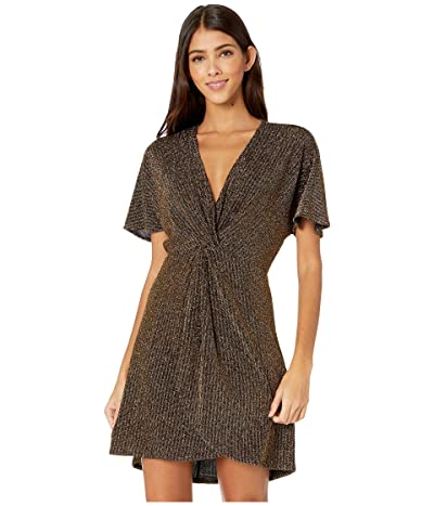 Show Me Your Mumu Get Twisted Mini Dress (Gold Me Up Stripe) Women