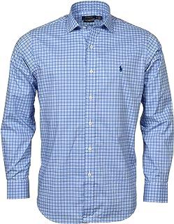Ralph Lauren Mens LS Solid Medium Blue Classic Fit Shirt XXL NWT