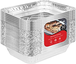 Aluminum Pans 9x13 Disposable Foil Pans (30 Pack) - Half Size Steam Table Deep Pans - Tin Foil Pans Great for Cooking, Hea...
