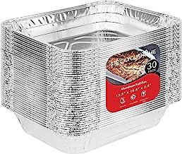 Aluminum Pans 9x13 Disposable Foil Pans (30 Pack) - Half Size Steam Table Deep Pans - Tin Foil Pans Great for Cooking, Hea...