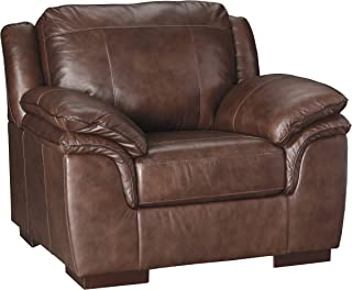 Ashley Furniture Signature Design - Islebrook Contemporary Leather Accent Chair - Canyon
