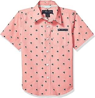 Boys' Short Sleeve Textured Fashion Woven Shirt