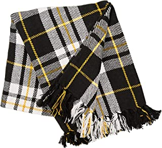 C&F Home Parker Black & Yellow Throw Blanket Fringe Plaid Stripes Blanket Soft Cozy for Couch Sofa Bed 50