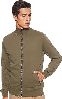 Calvin Klein Jeans Men's Track Jacket Zip Through Heavyweight Knits
