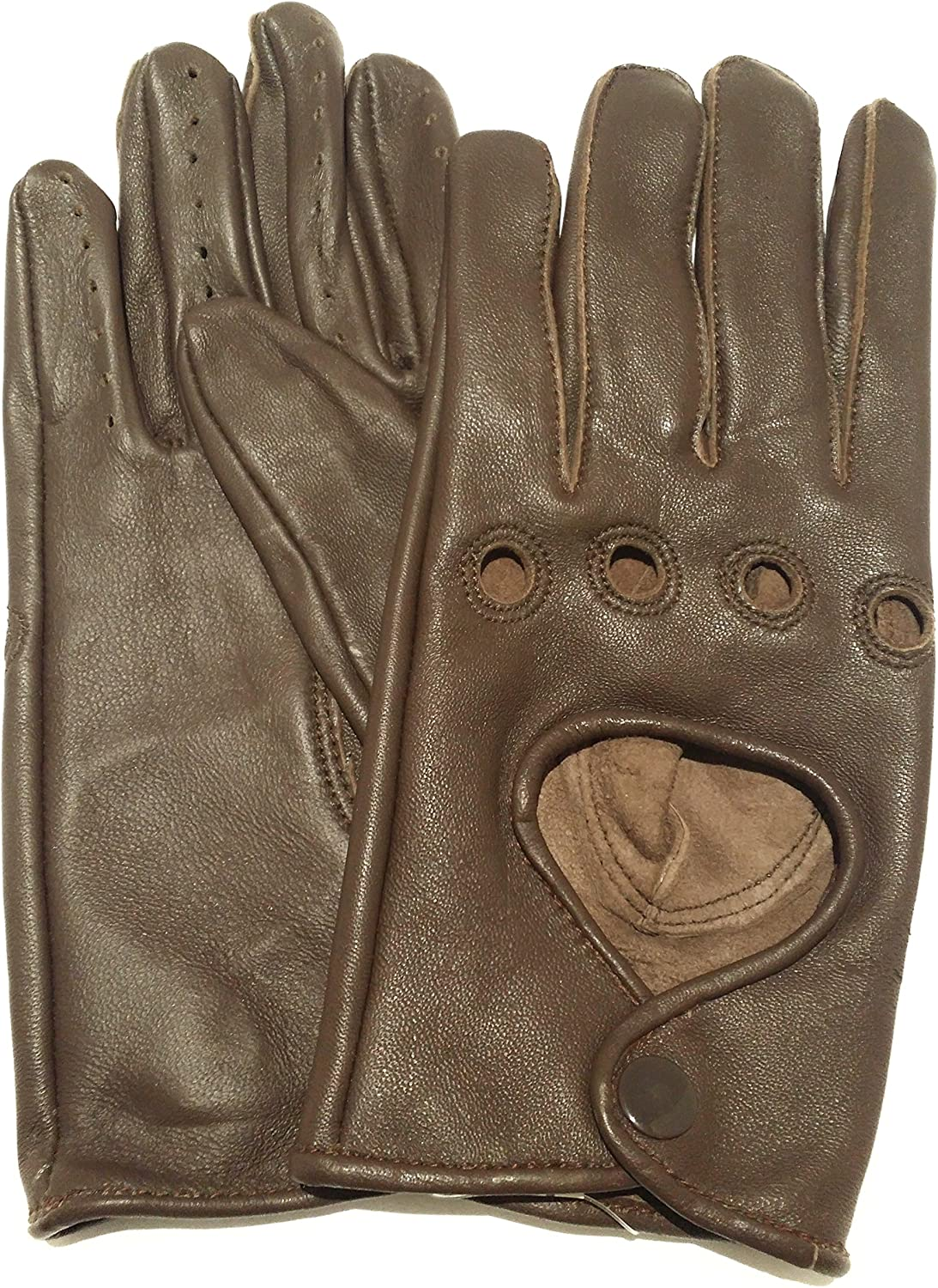 Sportsimpex Women Unlined Leather Driving Gloves (XL, BROWN)