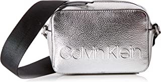 Edged Camera Bag Met, Bolsos bandolera Mujer, Gris (Silver), 7x12x18 cm (B x H T)