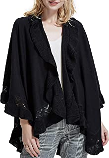 Ponchos for Women Knit Open Front Poncho Cape Blanket Shawl Oversize Wrap