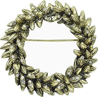 Best gold wreath pin Reviews