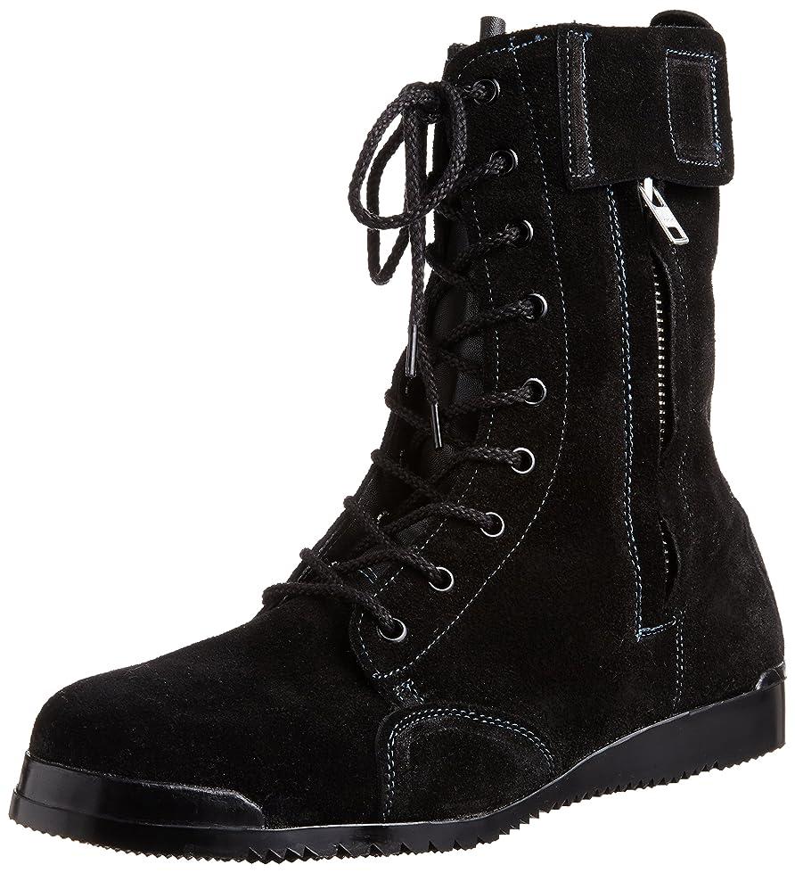 蜂マークされた黙[ノサックス] 安全靴 高所用JIS規格 みやじま鳶床革 M207床革 メンズ