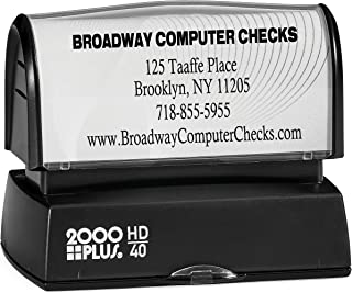 Bank Deposit Stamp - High Definition Pre-Inked Stamp for Check Endorsement Up To 5 Lines