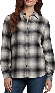 Dickies Women`s Long-Sleeve Plaid Flannel Shirt