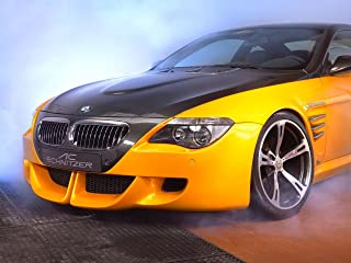 AC Schnitzer Tension Concept Based on BMW M6 (2005) Car Art Poster Print on 10 mil Archival Satin Paper Yellow Front Side Closeup Studio View 24