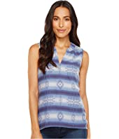 Dylan by True Grit Jackson Double Weave Jacquard Sleeveless Tunic