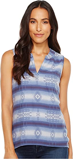 Jackson Double Weave Jacquard Sleeveless Tunic