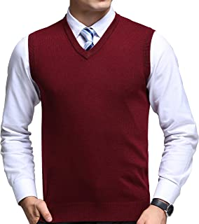 Mens Winter V-Neck Sleeveless Vest Classic Business Gentleman Knitwear Knitted Waistcoat Sweater Cardigans Tank Tops