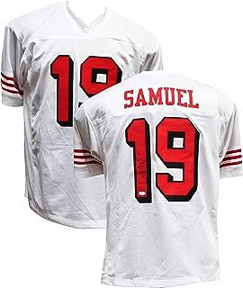 Authentic Deebo Samuel Autographed Signed Custom White Color Rush Jersey JSA COA - San Francisco 49ers WR