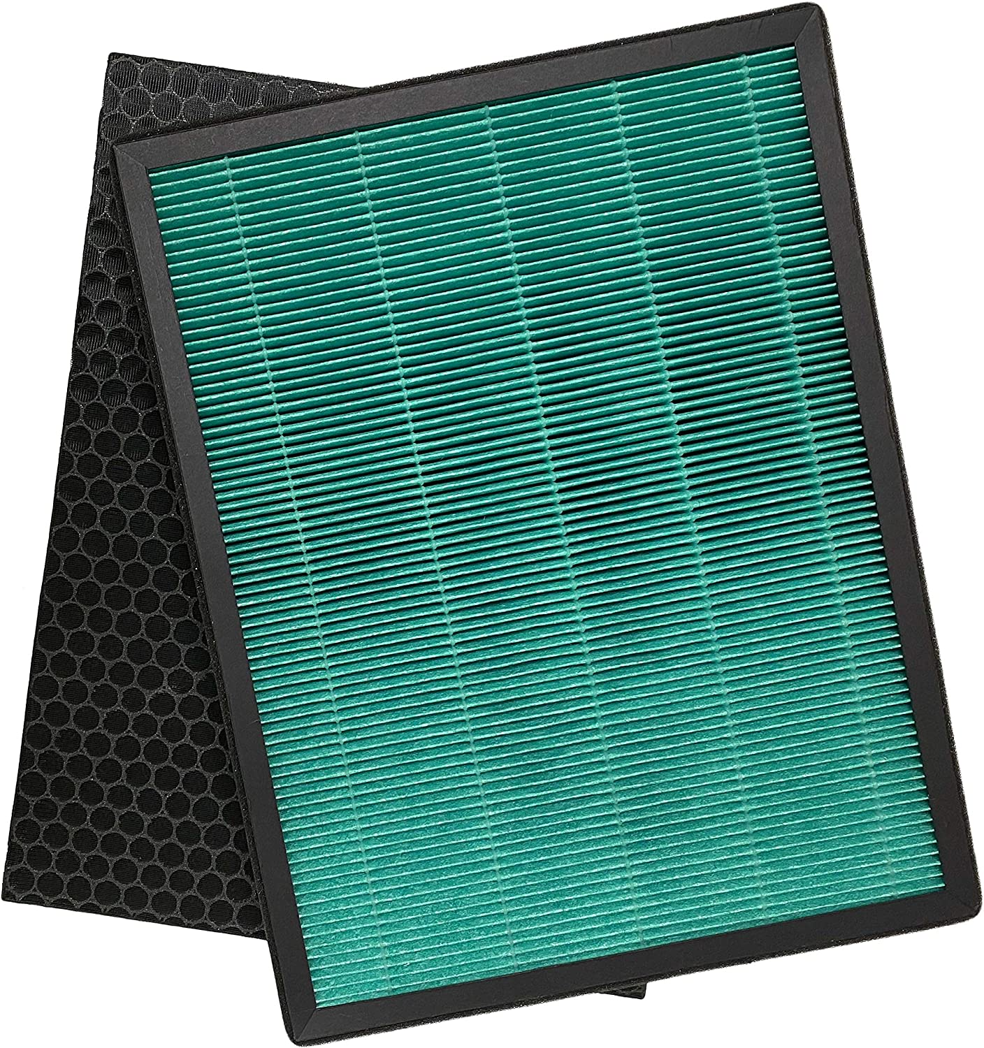 Nispira True HEPA Filter + Activated Carbon Pre Filter Kit Set Replacement Compatible with Rabbit Air BioGS 2.0 Ultra Quiet Air Purifier Model SPA-550A and SPA-625A, 1 Pack
