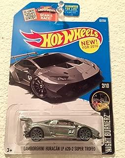 Hot Wheels 2016 Night Burnerz Lamborghini Huracan LP 620-2 Super Trofeo 82/250, Silver