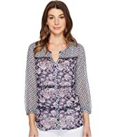 Lucky Brand - Blue Mix Print Top