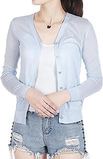 夏季新款纯色短款冰丝薄针织开衫披肩女外搭空调防晒衫 371910001