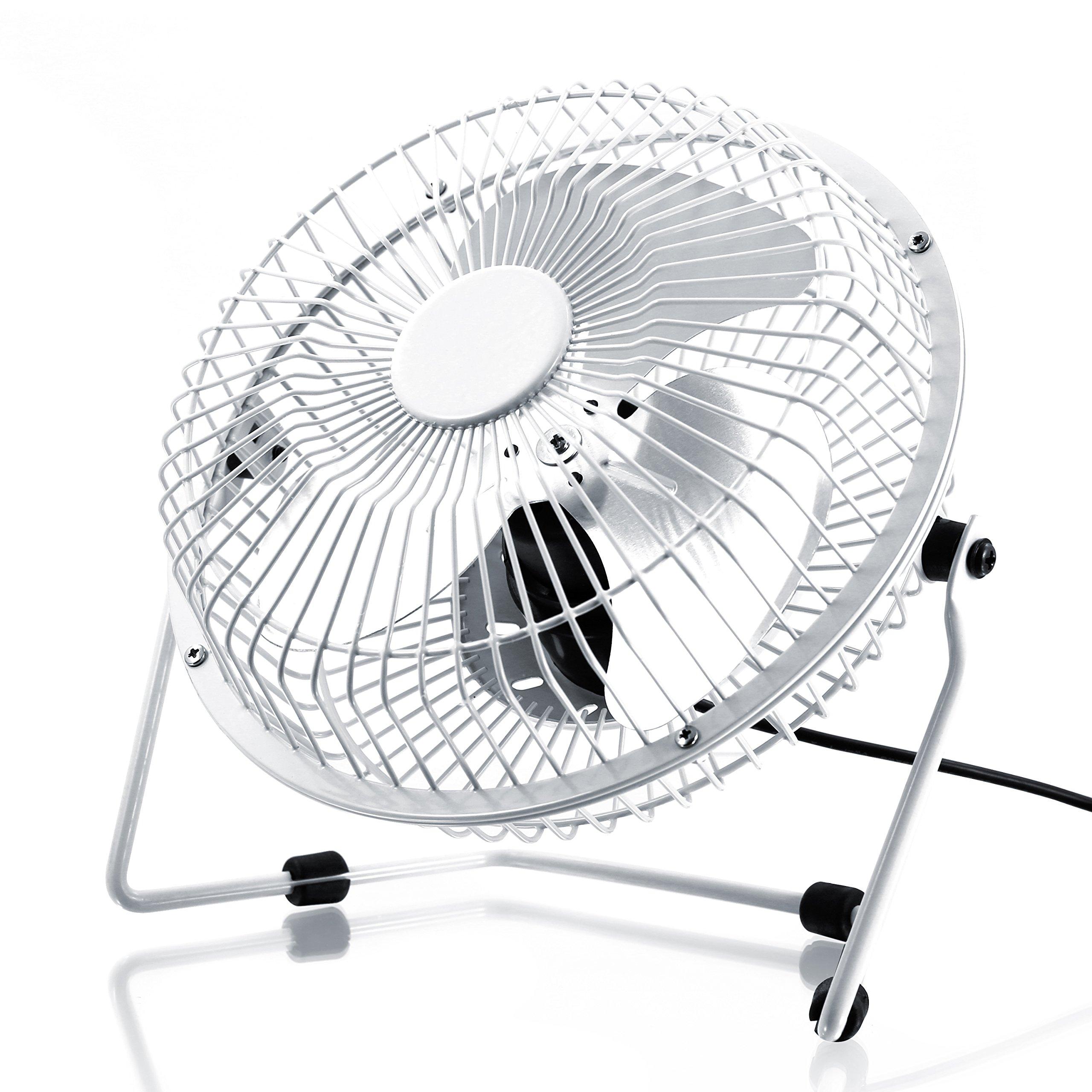 CSL - USB Ventilador/Fan | Ventilador de Mesa | Carcasa/aspas de Metal | PC/ portátil | en Blanco: Amazon.es: Electrónica