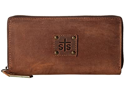 STS Ranchwear The Baroness Bi-Fold Zip-Wallet (Brown) Bi-fold Wallet