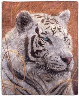 Best white tiger print blanket Reviews