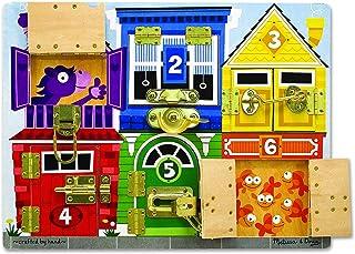 Melissa & Doug Latches Board | Developmental Toy | Motor Skills | Problem Solving | 3+ | Gift for Boy or Girl