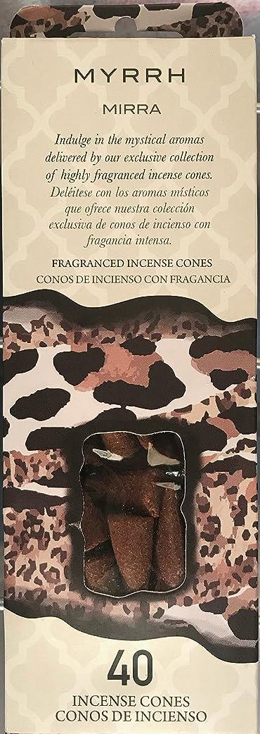 要旨とげのある序文Flora Classique Myrth Fragranced Incense Cones、40?ct