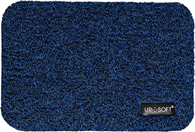 UROSOFT Extra Thick Cushion (18MM) Wire Mesh Entrance PVC Doormat, Anti Skid, Water Proof, 60 x 90 cm, Blue