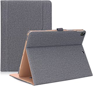 """ProCase iPad Air (3rd Gen) 10.5"""" Case 2019, Vintage Stand Folio Case Cover for Apple iPad Air (3rd Gen) 10.5"""" 2019 and iPad Pro 10.5 2017, Multiple Viewing Angles, with Apple Pencil Holder -Grey"""