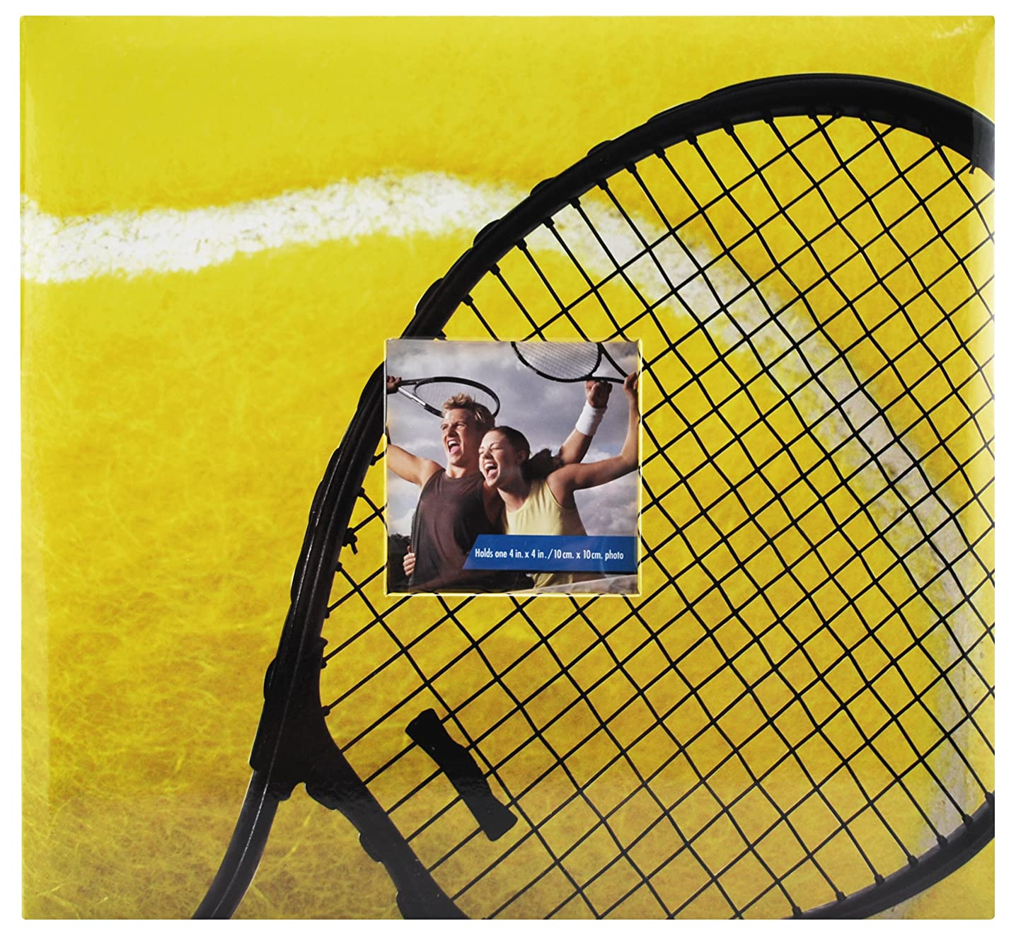 MCS MBI 13.5x12.5 Inch Tennis Theme Scrapbook Album with 12x12 Inch Pages with Photo Opening (865412)
