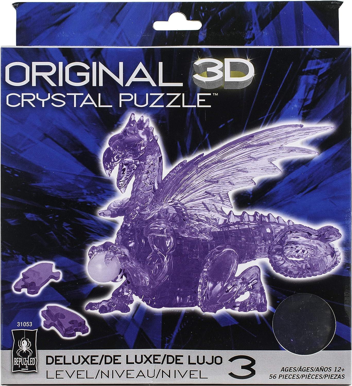 Red 56 Piece Original 3D Deluxe Crystal Dragon Puzzle